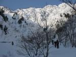 4.三方崩山スキー(弓ヶ洞谷より夏道尾根1956mポイント狙い)