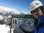 14.槍ヶ岳スキー(新穂高温泉起点1day)