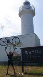 26.越前岬ライド(灯台ヒルクライムまで、200km)