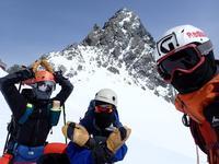 9.槍ヶ岳スキー(飛騨沢滑走、1day往復)